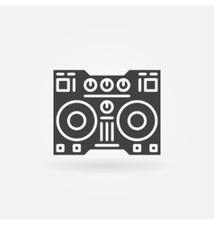 Digital dj controller icon vector