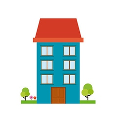 Isolated building vector