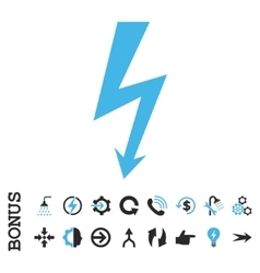 High voltage flat icon with bonus vector
