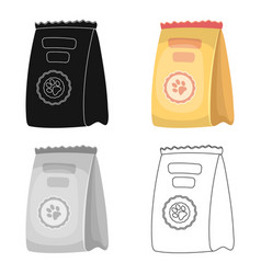 Animal feed packagepet shop single icon in black vector