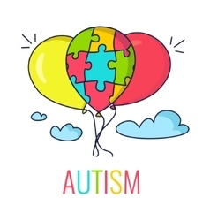 Autism concept with balloons vector