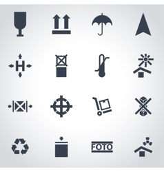 black marking of cargo icon set vector image