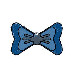 Bow accessory icon vector