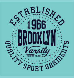 Brooklyn varsity vector