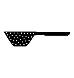 Colander with handle icon simple style vector