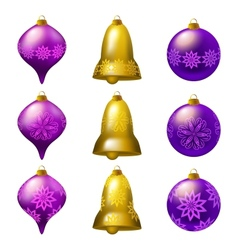 collection of colorful Christmas bauble vector image vector image