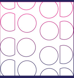Color line circle and triangle memphis style vector