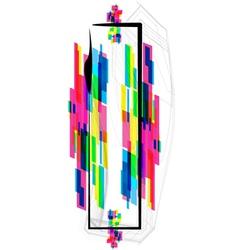 Colorful Font Letter I vector image