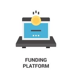 funding platform icon concept vector image