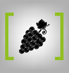Grapes sign black scribble vector