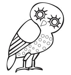 Greek owl sign symbol vector