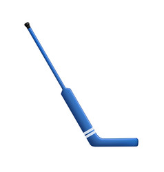 Hockey stick for goalie in blue design vector