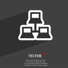local area network icon symbol Flat modern web vector image vector image