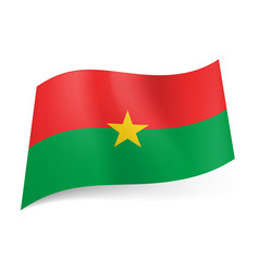 National flag of burkina faso red and green vector