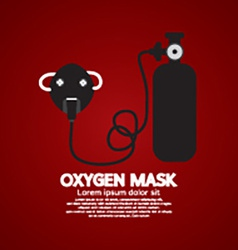 Oxygen mask with tank vector