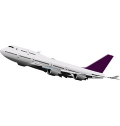 passenger plane vector image vector image