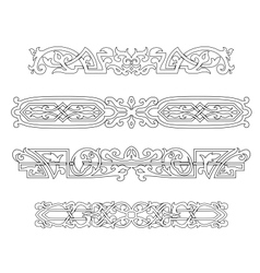 Retro ornaments and borders vector