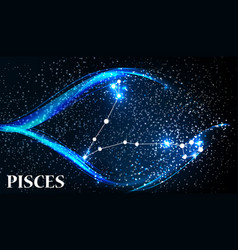 Symbol pisces zodiac sign vector