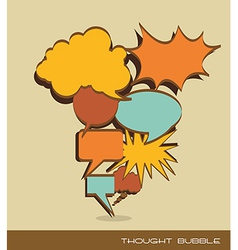 Text balloons comic vector