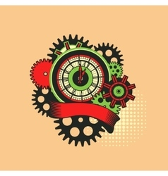 time clock mechanism vector image