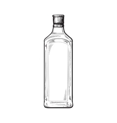 Traditional unlabeled unopened blue gin glass vector
