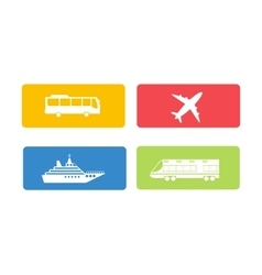 Transport symbols set vector image