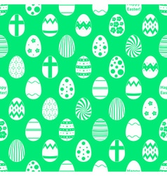 white Easter eggs design seamless green pattern vector image