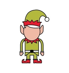 Isolated elf of christmas season design vector