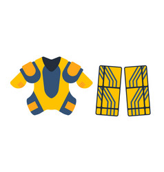 Hockey uniform accessory in flat style vector