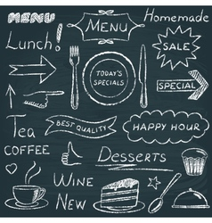 Set of restaurant menu design elements vector