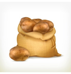 Sack of potatoes icon vector image