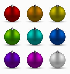 Modern colorful christmas balls set vector