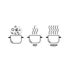 Cooking line icons set vector