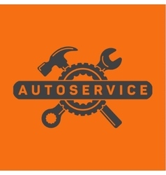 Service auto repair wrench hammer wheel logo vector