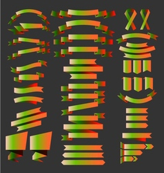 St patricks day ribbons vector
