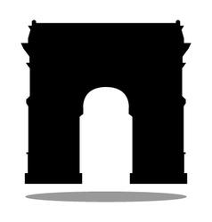 Arc de triomphe in paris vector