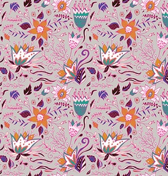 Abstract elegance seamless floral pattern vector image vector image