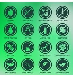 Allergen icons set vector image
