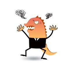 Angry or godzilla-like boss vector