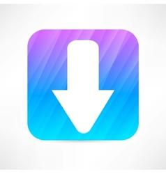 arrow down icon vector image