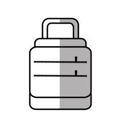 baggage suitcase travel line shadow vector image