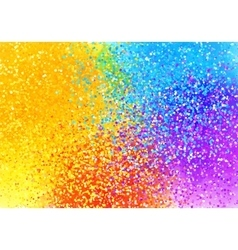 Bright sprayed paint rainbow colors abstract vector image