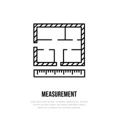 building measurements architectural plan vector image