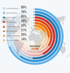 circle informative infographics 8 options vector image vector image
