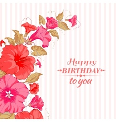 Color garland of flowers vector image vector image