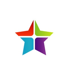 Colorful star business logo vector image vector image