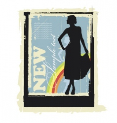 fashion poster vector image vector image