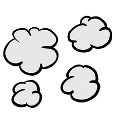 Freehand drawn cartoon puff of smoke vector