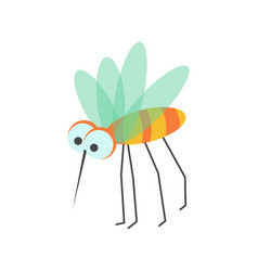 funny mosquito with huge eyes and sharp proboscis vector image vector image
