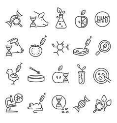 gmo icon set vector image vector image